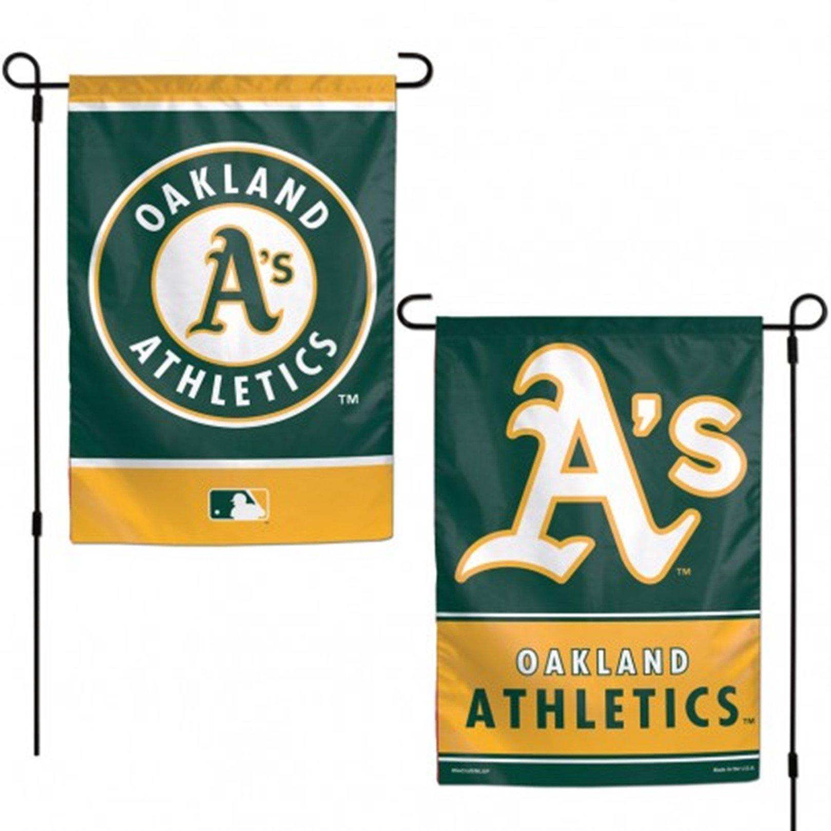 Stockdale Oakland Athletics A's WC GARDEN FLAG Premium 2-sided Banner Outdoor Baseball