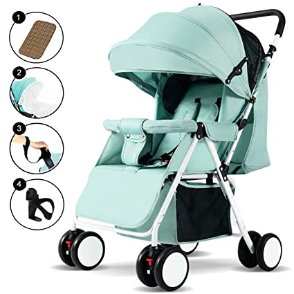 Uarashi Cochecito Silla de paseo de bebé plegable Peso ligero Viaje infantil Cochecito de bebé Cochecito