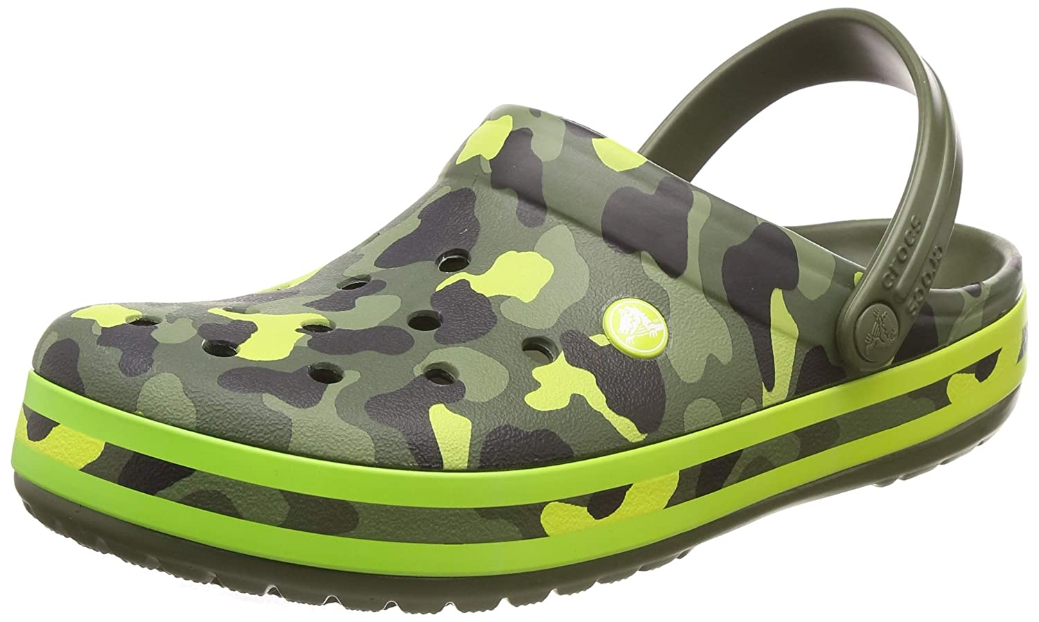 963762986 Crocs Shoes - Clogs Crocband Seasonal Graphic Clog - Army Green Citrus   Amazon.co.uk  Shoes   Bags
