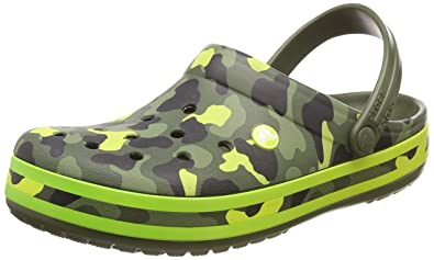 4517912f50f215 crocs Crocband Seasonal Graphic Clog Army Grün Citrus Croslite ...