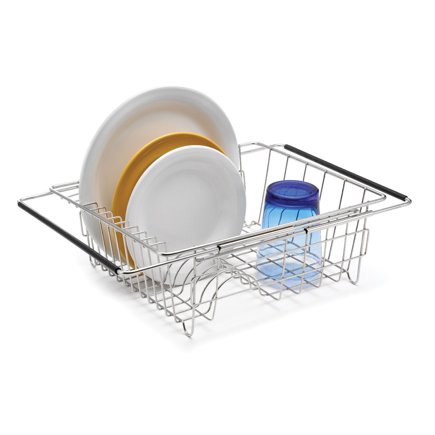 Polder 6216-75RM In-Sink/Over-Sink Stainless Steel Dish Rack, 13.75'' x 11.5'' x 5''
