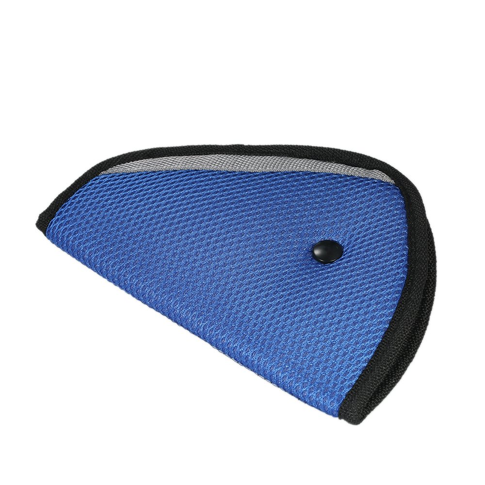 Decdeal Safety Seat Belt Adjuster Positioner Cover Pad Harness for Kid Child Blue