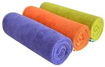 SINLAND toallas microfibra para gimnasio Ultra absorbente 3 unidades 33 x 74 cm: Amazon.es: Deportes y aire libre