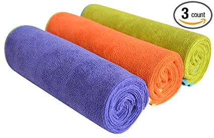 f532bdcfbe2c4 SINLAND Microfiber Gym Towels Fast Drying Sports Fitness Workout Sweat  Towel 3 Pack 16 Inch X