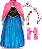 FUNNA Princess Costume for Toddler Girls Fancy Dress Party with Accessories Blue