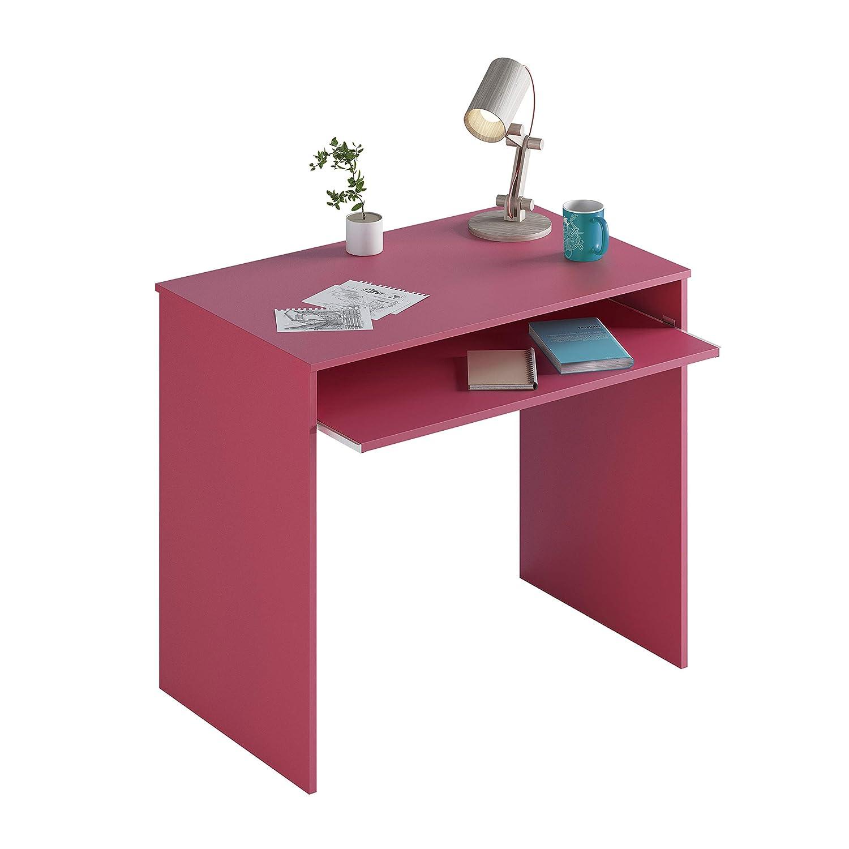 Habitdesign 0M2314M - Mesa de Ordenador con Bandeja Extraible Mesa Escritorio Modelo I-Joy, Medidas: 90 x 79 x 54 cm de Fondo (Fucsia)