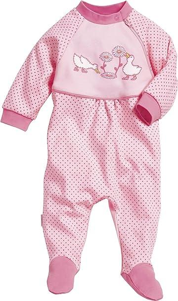 Playshoes Baby-M/ädchen Schlafanzug Schlafoverall G/änse Schlafstrampler