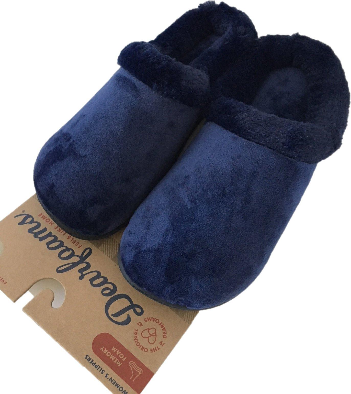 Dearfoams Women's Winter Slippers - Peacoat (M, 7-8)