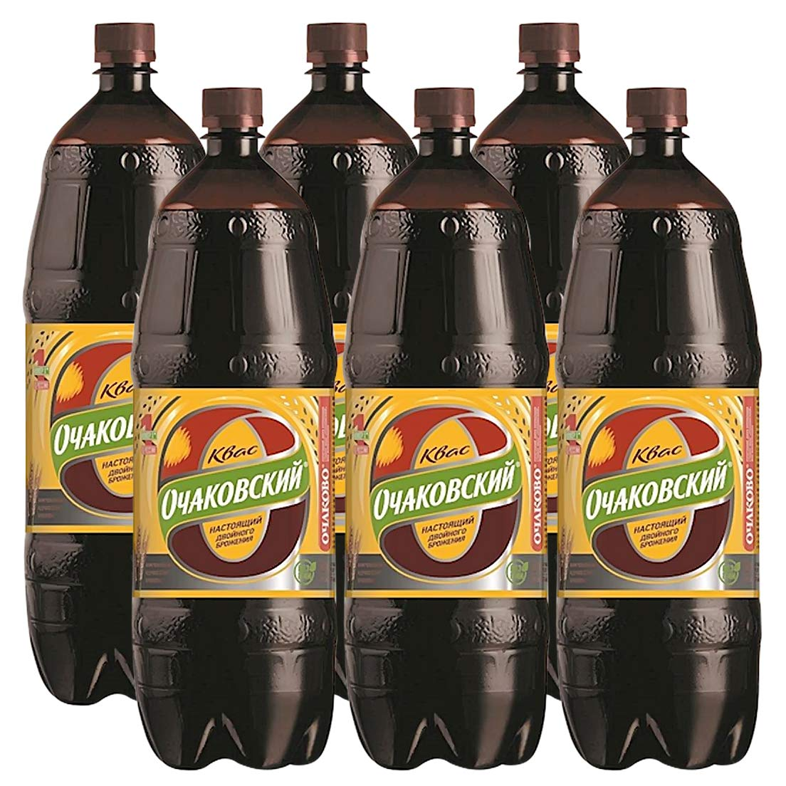 Classic Russian Ochakovskiy Food Drinks Kvass Soda Imported Fermented Probiotic Drink - Made With Rye Bread (6 Pack)