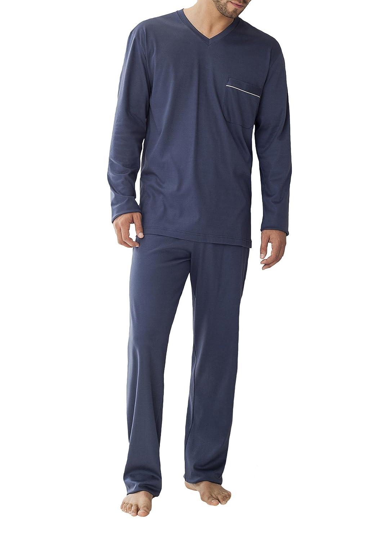 Zimmerli Mens Navy Blue Pyjama Set