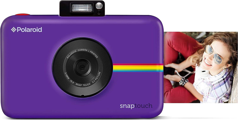 Polaroid Snap Touch 2.0 - Cámara digital portátil instantánea de 13 Mp,Bluetooth, pantalla táctil LCD, tecnología Zink sin tinta y nueva aplicación, copias adhesivas de 5 x 7.6 cm, purpura