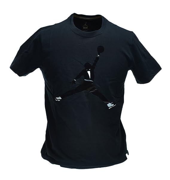187a0b9d337a Amazon.com  Jordan AJXI Black Tie Men s T-Shirt Black White 576787 ...