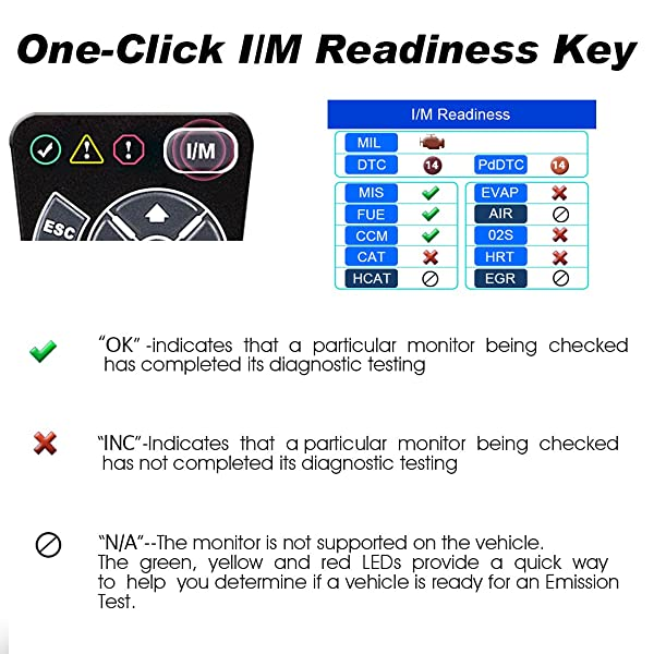 Autel AL519 is one of the best OBD2 scan tool that offers one-click I/M readiness key