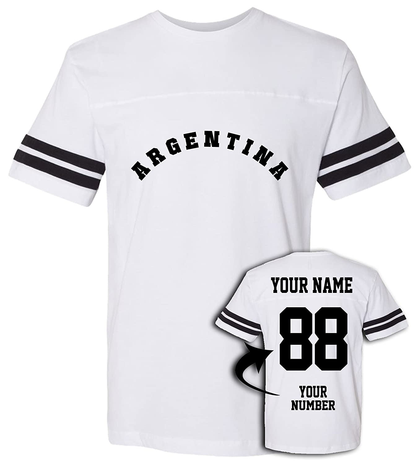 7134e50cd75 Amazon.com  Argentina Football Jersey T Shirts