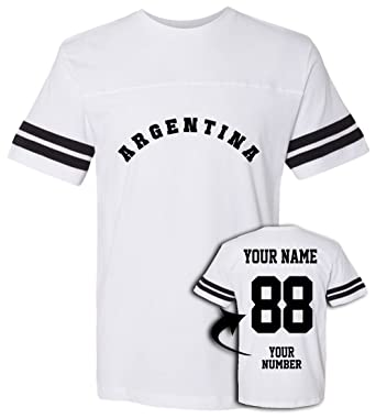 eeed41bf7 Argentina Football Jersey T Shirts | Custom Unisex Jerseys & Personalized  Team Uniforms