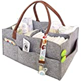 Seasons Shop Baby Diaper Caddy Organizer, Basket Diaper Tote Bag Nursery Storage Bin for Closet Bedroom Bathroom Car Travel