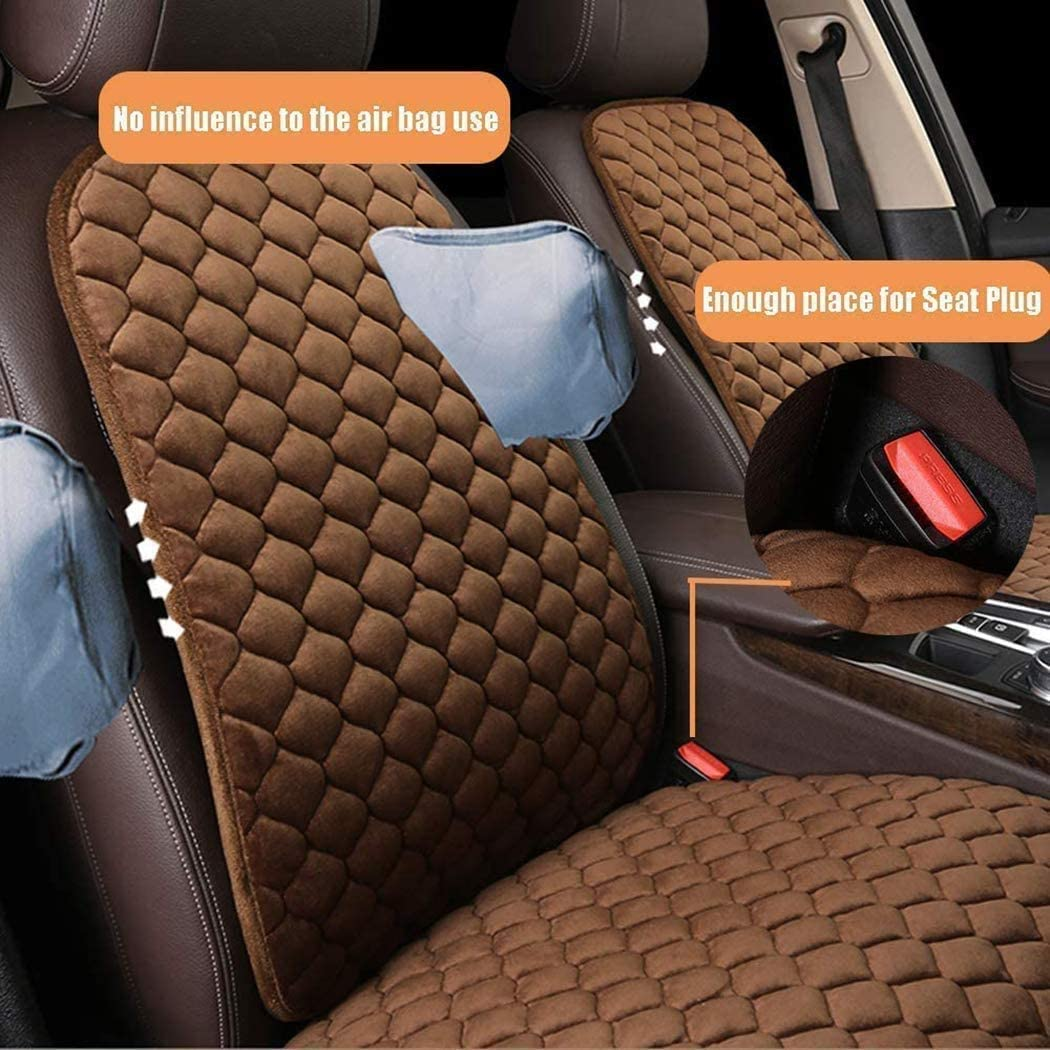 Single Seametal Heated Seat Cover Cushion,Premium 12V Velvet Seat Protector for Winter,Soft and Comfortable 1Pack