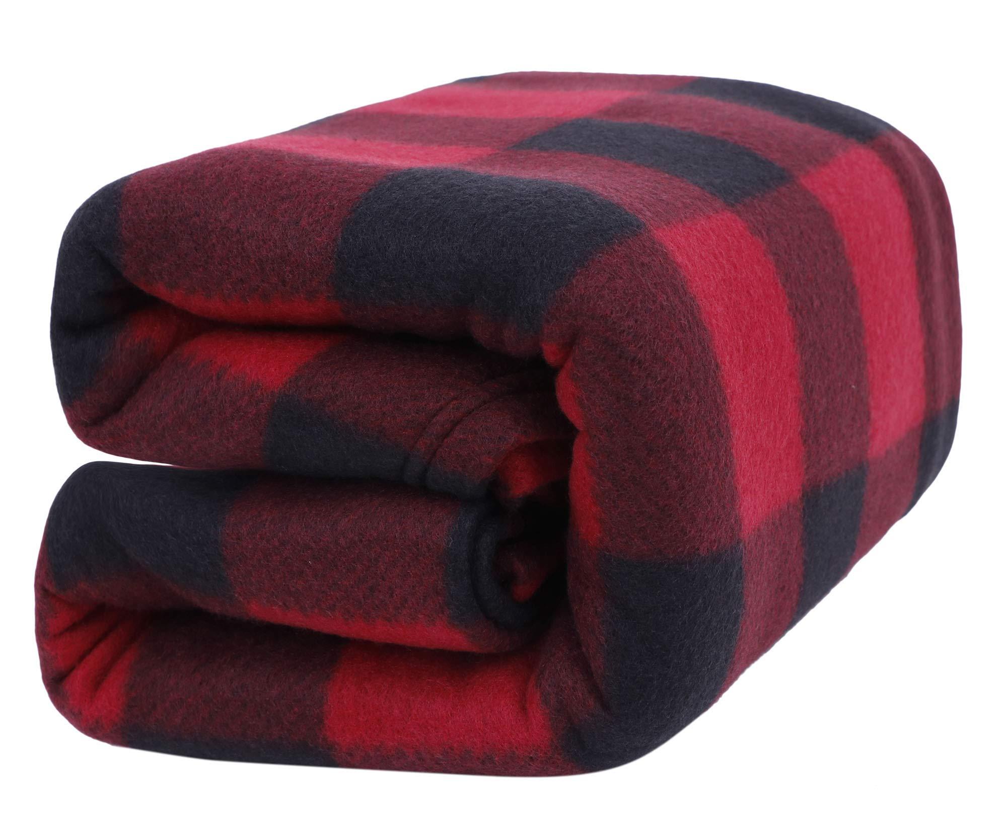 Home Blanket Polar-fleece Blanket Lightweight Warm Blanket, Red