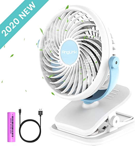 Portable USB /& Rechargeable Battery Operated Mini Personal Fan for Table,Desk,Office,Camping,Traveling,Dorm,Desktop Small Desk Fan