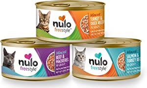 Nulo Adult & Kitten Grain Free Canned Wet Cat Food (Minced Variety Pack, 3 Oz, Case of 12)