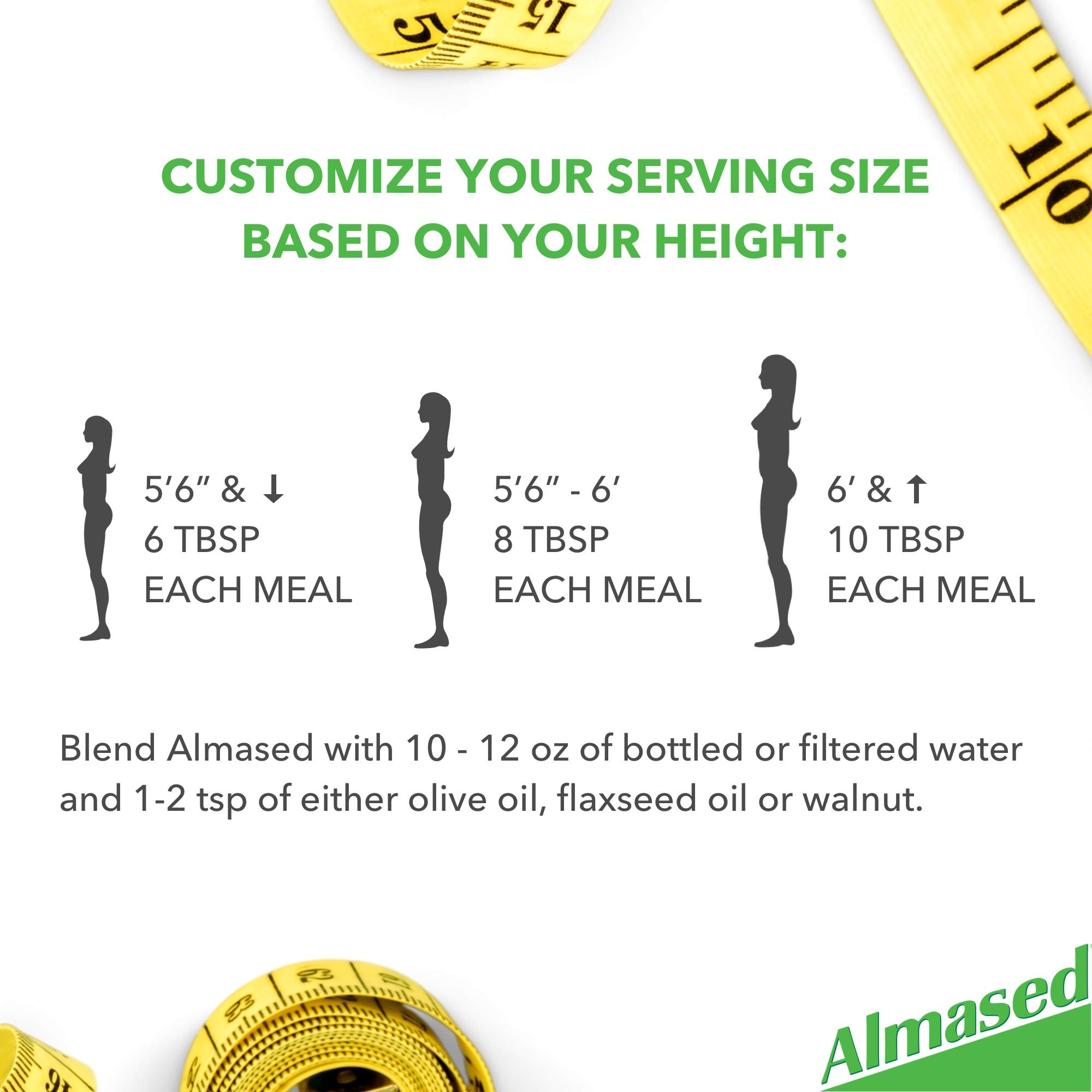 Almased Meal Replacement Shake (6 Pack) with Bonus Bamboo Spoon - 17.6 oz Powder - High Protein Weight Loss Drink, Fat Metabolism Booster - Vegetarian, Gluten Free - 60 Total Servings by Almased (Image #7)