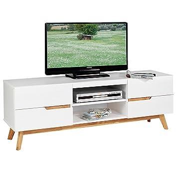 IDIMEX Lowboard TV Möbel Tibor, Fernsehtisch Fernsehschrank HiFi Möbel Im  Nordisch Skandinavischen Stil Mit 4
