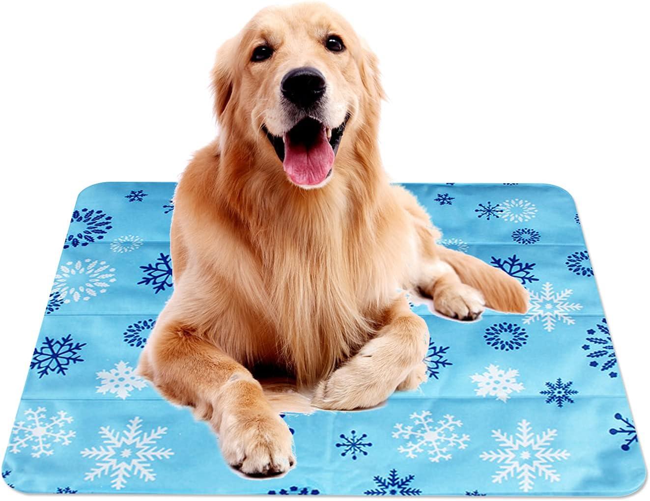 Gwotfy Alfombrilla de Refrigeración para Perros y Gatos, Enfriamiento para Camas de Mascotas, Alfombrilla para Animales, Gel no Tóxico, Autoenfriante, Alfombra Refrescante para uso Interior y Exterior