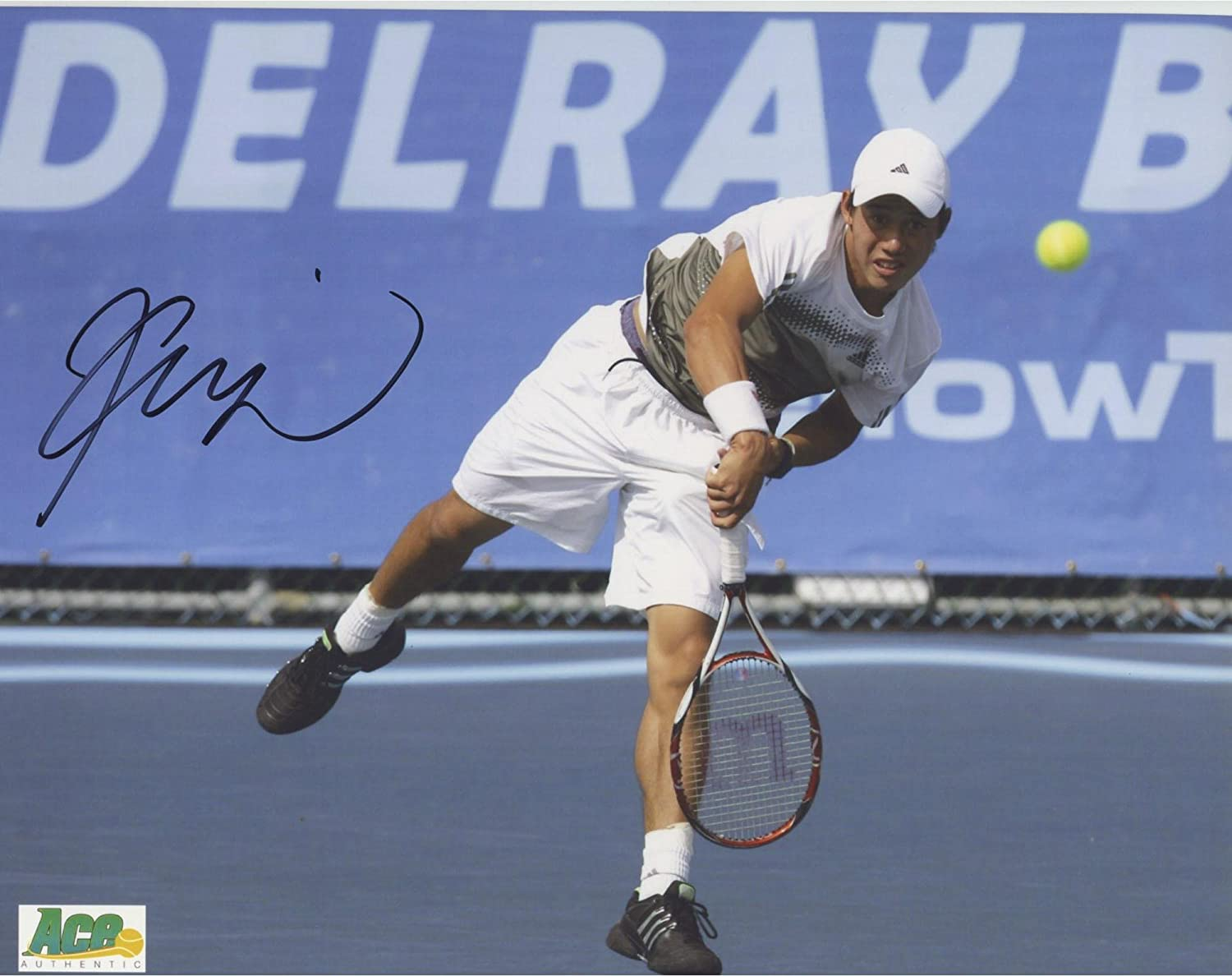 Kei Nishikori Autographed 8' x 10' Serve Photograph - Fanatics Authentic Certified - Autographed Tennis Photos