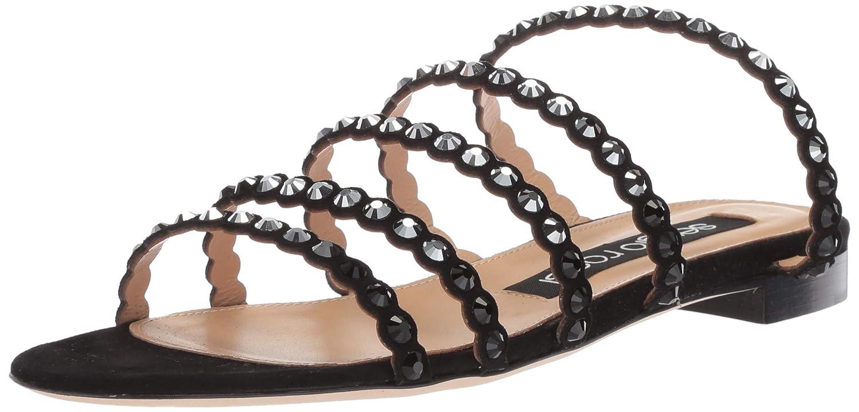 Black 37.5 Medium EU (36,6 US) Sergio Rossi Women's Kimberly Slide Sandal