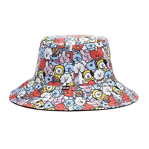 2cac4f44724 BT21 Black Reversible Bucket Hat for Men and Women at Amazon Men s Clothing  store