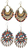 YouBella Fashion Jewellery Stylish Afghani Tribal Fancy Party Wear Earrings for Girls and Women