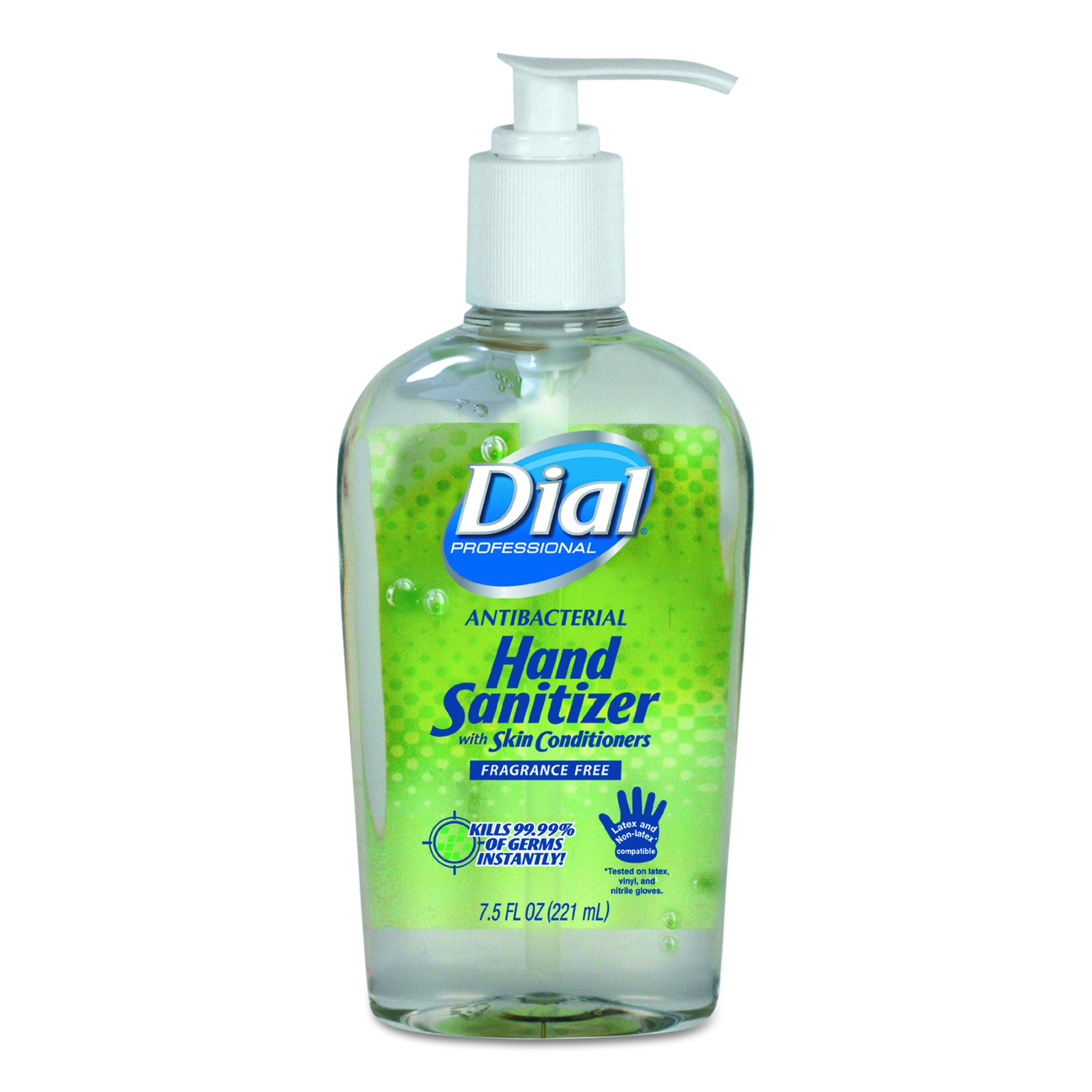 Dial Professional 01585 Antibacterial Gel Hand Sanitizer with Moisturizers, 7.5oz Pump Bottle (Case of 12) by Dial (Image #1)
