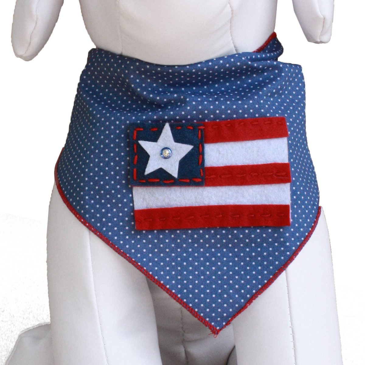 Best Amazon.com : Red White & Blue Flag Dog Bandana Kerchief (Medium  ZC55
