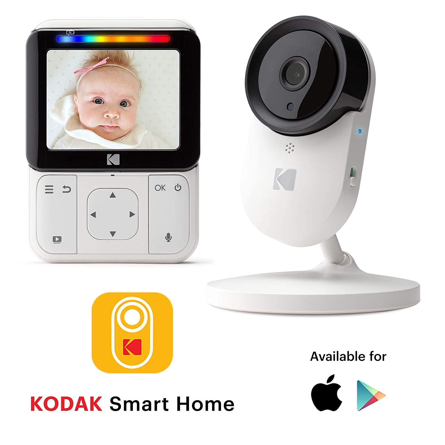 KODAK Cherish C520 Video Baby Monitor — 5 HD Screen & Mobile App, Hi-res Camera, Remote Zoom, Two-Way Audio, Night-Vision, Long Range and WiFi Cinatic Technology LTD
