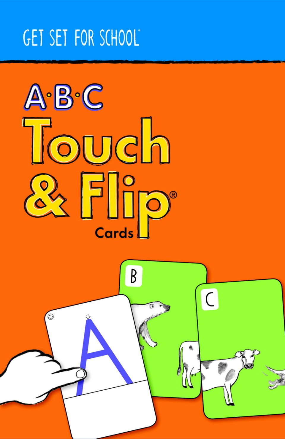 Get Set for School ABC Touch and Flip Cards byHandwriting Without Tears