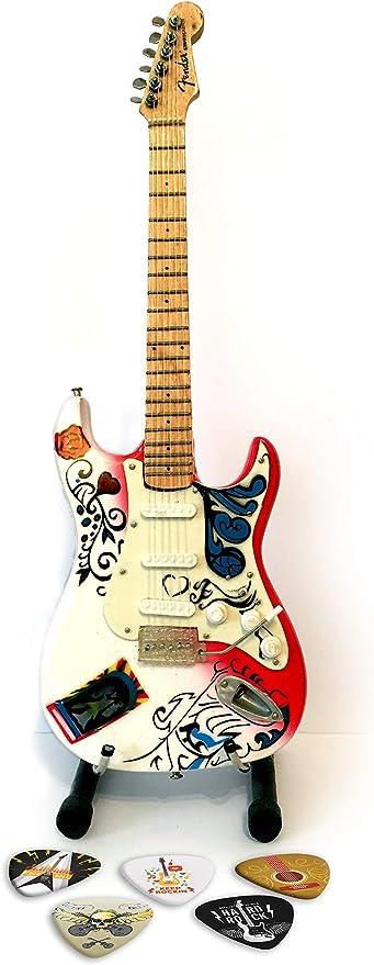 We Love Guitars Jimi Hendrix White Premium - Miniatura de Guitarra ...