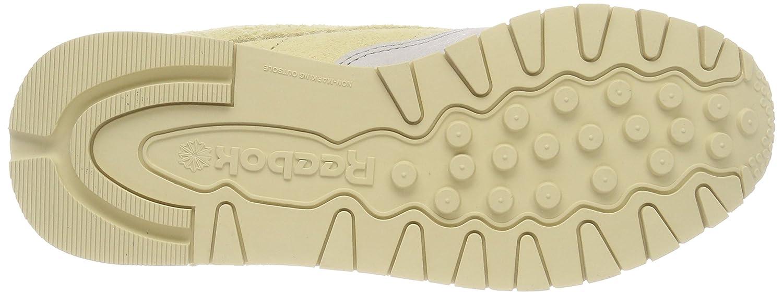 Reebok Leder Damen Classic Leder Reebok NBK Sneaker Weiß (Chalk/Straw) ce5e74