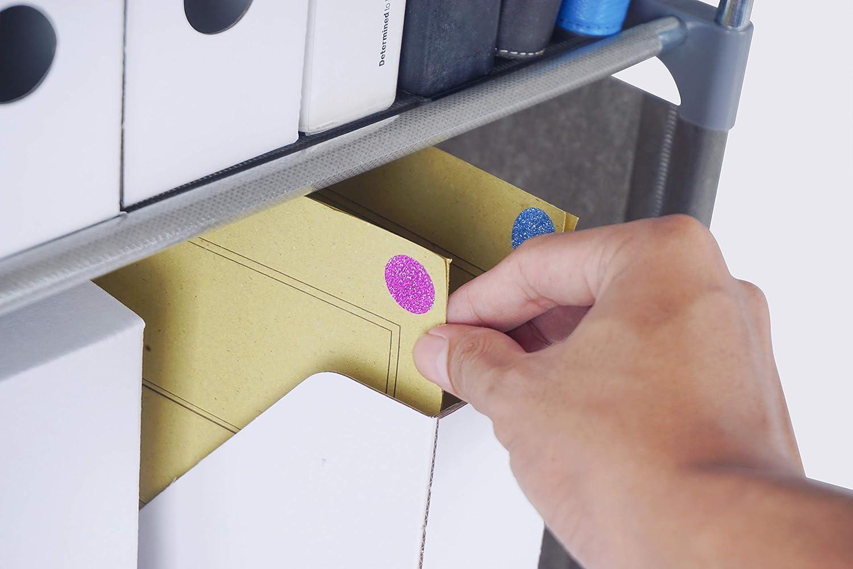 in verschiedenen Farben Gr/ö/ße 1,7cm Durchmesser Klebepunkte 720 Vorteilspack von Royal Green Aufkleber Glitzer Silber 17mm runde Punkt Etiketten
