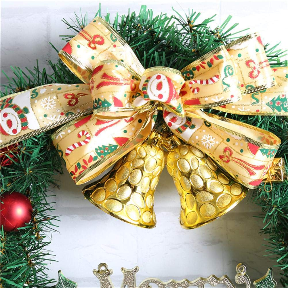 Ribbon Bell Christmas Wreath Artificial Wreath Decorative Wreath Home Window Shopping Mall Hotel Decoration Christmas Decoration by Topaty (Image #3)