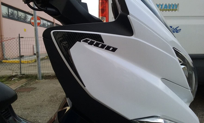 2 ADESIVI 3D fianchi cupolino compatibili scooter SUZUKI BURGMAN 400 2017-2019