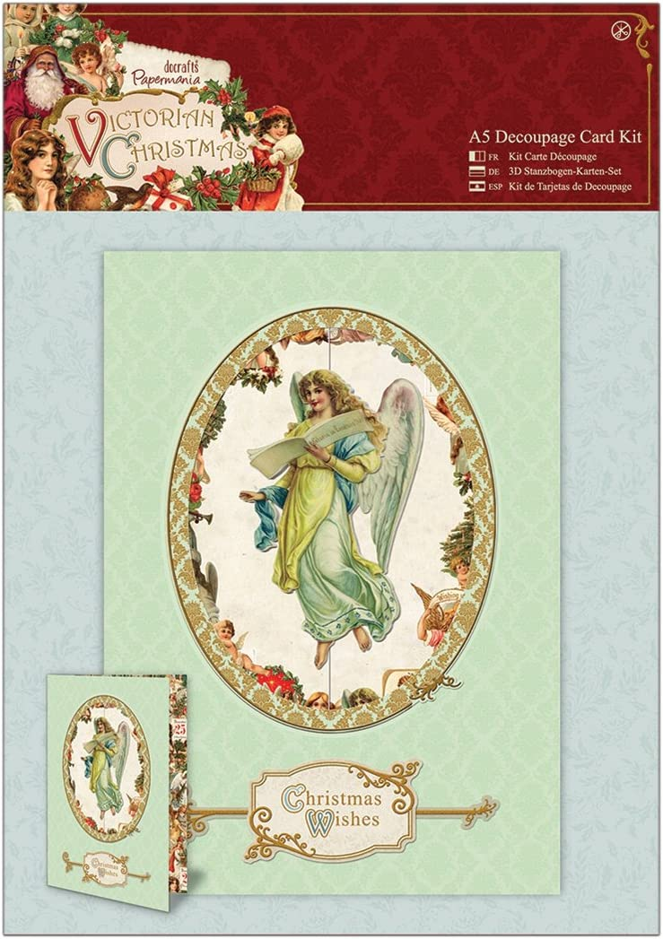 docrafts Papermania Victorian Christmas A5 Decoupage Card Kit
