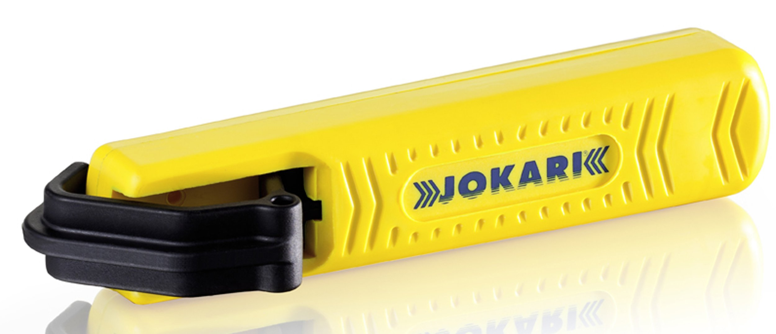 Jokari 10271 Completely Insulated Cable Stripping Knife for All Standard Round Cables, No. 27 ISO, 13.8cm L x 3.8cm W x 3.5cm H