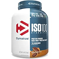 Dymatize ISO 100 Whey Protein Powder with 25g of Hydrolyzed 100% Whey Isolate, Gluten...