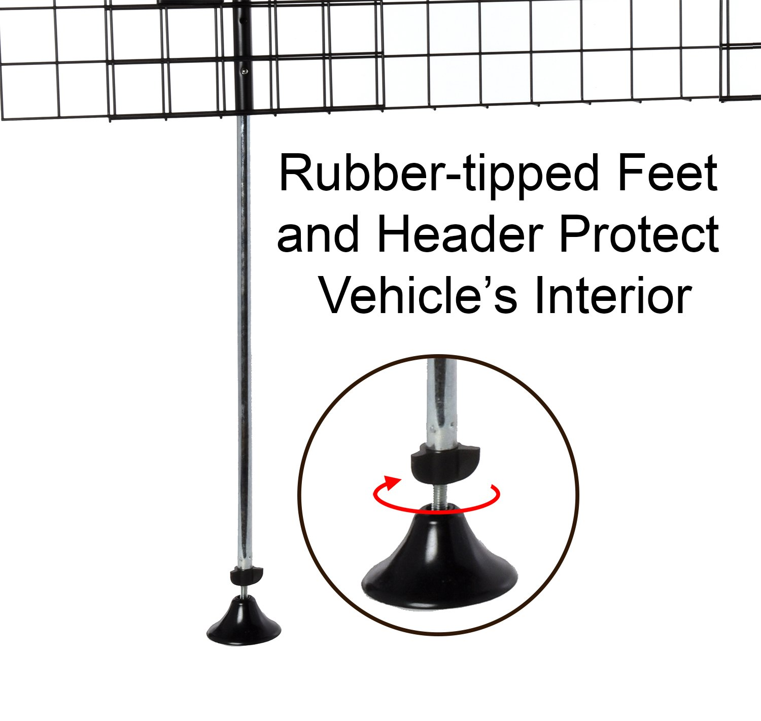 Amazon.com : Arf Pets Dog Car Wire Barrier for SUV, Vehicle, Heavy ...