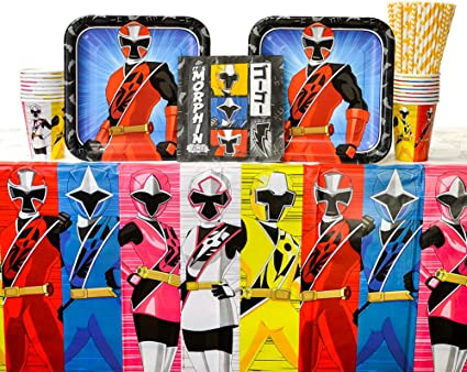 8 ~ Birthday Party Supplies Lunch POWER RANGERS Ninja Steel LARGE PAPER PLATES