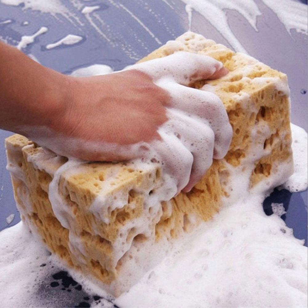 ZHUOTOP Limpiador de esponja antideslizante para coche, color amarillo: Amazon.es: Coche y moto