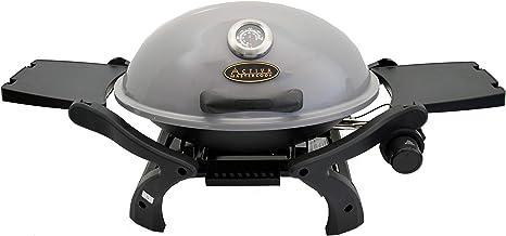 ACTIVA Barbacoa de gas de mesa de gas, parrilla de mesa de gas, parrilla de camping, quemador de 3,4 kW, barbacoa de mesa para exteriores, color gris