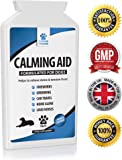 Natural Dog Calming Supplements for Dogs - 120 Non Drowsy Chicken Flavour Supplements - Can help Stress & Anxiety related to Fireworks, Grooming, Loud Noises, Car Journeys, Separation & Aggression