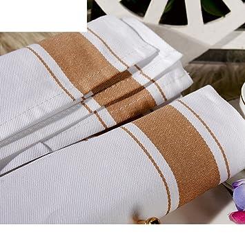 servilletas de algodón/Paño de cristal arqueado/paño/Hotel limpiando el paño/servilletas de algodón/Super toalla cubierta absorbente-B 50x70cm(20x28inch): ...