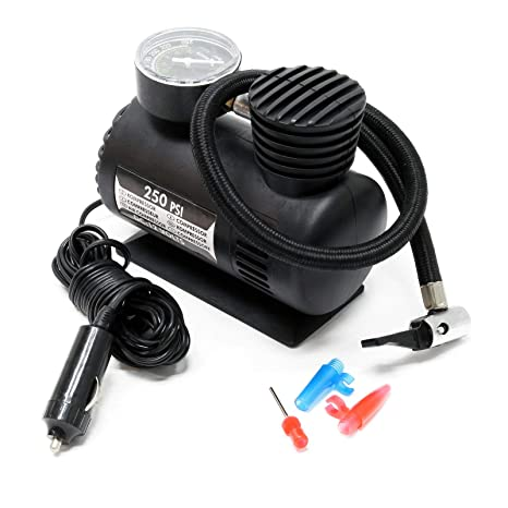 Mini compresor 12V 17bar 250PSI Aire comprimido Bomba aire Outdoor Eléctrico Conexión toma mechero